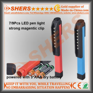 7 LED Pocket Work Light Pen Work Light with Magnetic Clip pictures & photos