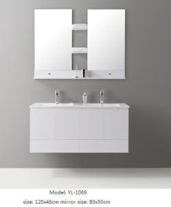 Sanitary Ware Bathroom Furniture with Ceramic Basin Mirror pictures & photos