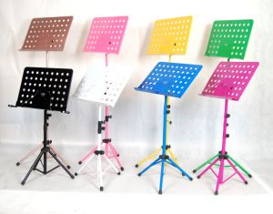Professional Height Adjustable Top Quality Metal Folding Music Stand pictures & photos