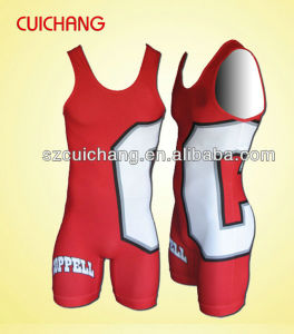 Professional Custom Sublimated High Quality Wrestling Singlet pictures & photos