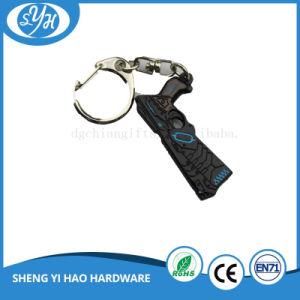Customized Zinc Alloy Souvenir Key Chain with Velvet Pouch pictures & photos
