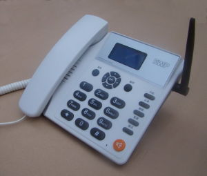 Quad Band One/Dual SIM Card GSM Fixed Wireless Desktop Phone pictures & photos
