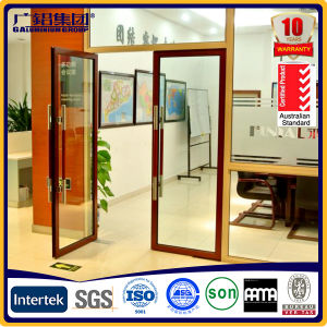 Aluminium Automatic Spring Door with Double Hand Grip pictures & photos