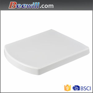 Duroplast Toilet Lid Square Seat Cover with Soft Close Function pictures & photos