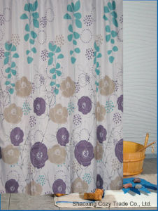 Flowers Design Fabric Bathroom Shower Curtain pictures & photos