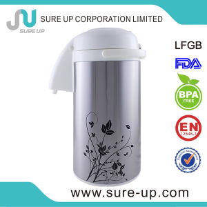Hot Sale Colorful Flower Thermos Vacuum Pot with Glass Inner pictures & photos