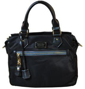 Fabric Handbags with Leather /Tote Fabric Handbags (BS8691)