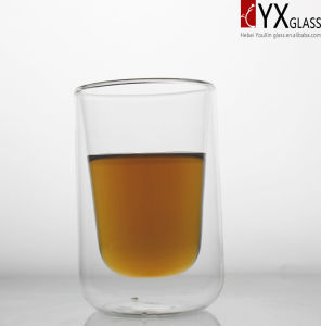450ml Double Layer Glass Coffee Cup/Double Layer Glass Tea Cup/Double Layer Glass Thermos Cup pictures & photos