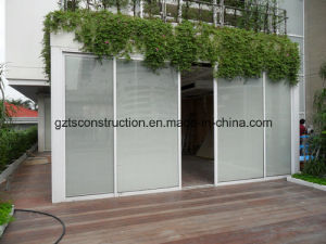 Aluminium Sliding Door with Shutter and Double Glazing pictures & photos