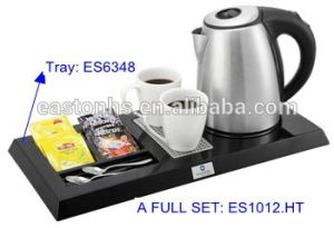 Hotel Rotation Cordless Electric Kettle & Welcome Melamine Tray pictures & photos