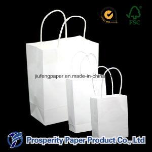 White Kraft Paper Handbag pictures & photos