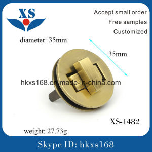Rose Gold Plated Custom Metal Lock for Handbags pictures & photos