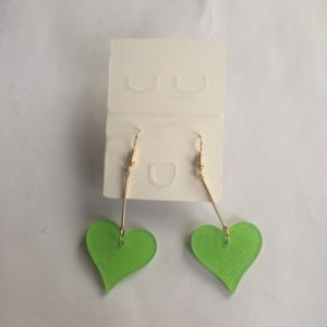 Long Heart Plastic Earring with Metal Fashion Jewelry Decoration pictures & photos