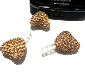 Shiny Heart Dust Proof Plug for Mobile Phone