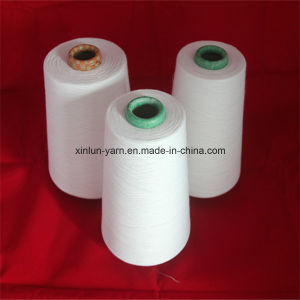 Ne 32s 100% Polyester Spun Yarn of Ring Spun Virgin pictures & photos