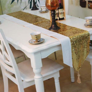 Sequin Embroidery Table Runner Embroidery Decorative Table Flag (JTR-36) pictures & photos