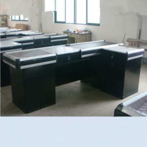 Suzhou Yuanda Supermarket Store Cash Counter with Conveyor Belt by Factory pictures & photos