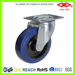 200mm Swivel Elastic Rubber Caster Wheel (P102-23D200X50) pictures & photos