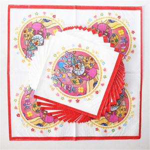 Colorful Clown Printed Dinner Napkin pictures & photos
