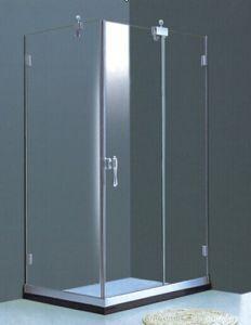 Bathroom Frameless Rectangular Simple Shower Enclosure (H011B) pictures & photos