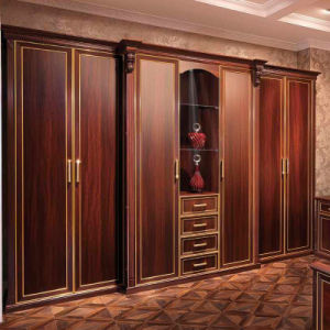 Oppein California Red Melamine Board Bedroom Wardrobe (OP-YG21110) pictures & photos