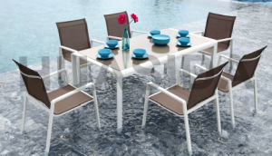 Aluminum Fabric Outdoor Dining Table Set for Leisure Space pictures & photos