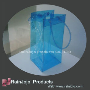 Customized Clear PVC Wine Bag with Handle pictures & photos