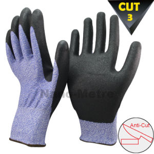Nmsafety Super Soft Water Based PU Anti-Cut Glove pictures & photos