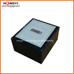 Fine PU Leather High Glossy Lacquered Wooden Box with Storage Box (HYW104) pictures & photos