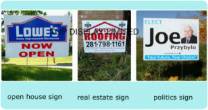China Manufactured Real Estate Yard Banner Custom Printed Yard Signspolitical Yard Sign pictures & photos
