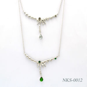 925 Silver Necklace Crystal Fashion Jewelry