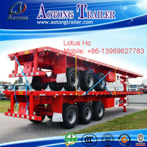 Hot Sale 2 Axles Flatbed Container Semi Trailer pictures & photos