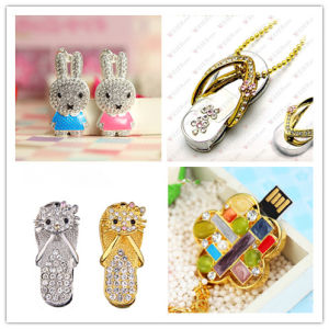 USB Flash Drive Wholesale Crystal Snow Pendrives Slippers USB Memory Flash Card Rabbit USB Flash Disk Memory Stick Flash Drive pictures & photos