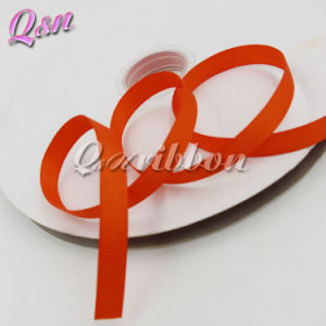 Orange Solid Grosgrain 9mm Ribbon