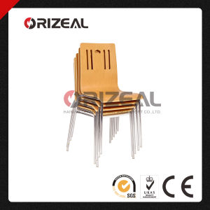 Comfortable Plywood Stackable Cheapest Stainless Steel Bent Wood Dining Chair pictures & photos