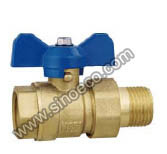 Reduced Male Forged Brass Ball Valve with Butterfly Handle pictures & photos