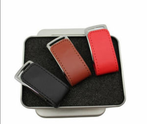High Speed Leather USB Flash Drive (GC-L354) pictures & photos
