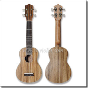 "21"" Zebra Plywood Soprano Hawaii Ukulele (AU34-21) pictures & photos"