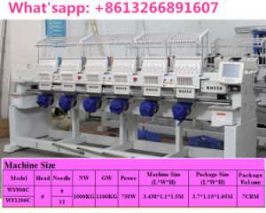 High Speed Multi-Head 9 Needle Cap Embroidery Machine (WY-908C) pictures & photos