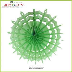 Light Green Snowflake Paper Fan Easter Decorations