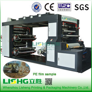 4 Colour High Speed Stack Roll Film Flexo Printing Machine pictures & photos