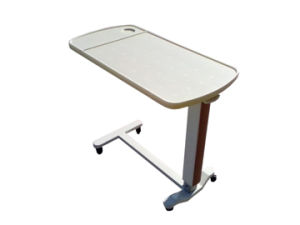 Hi-Low Adjustable Hospital ABS Overbed Table for Sickroom Use (L-7) pictures & photos