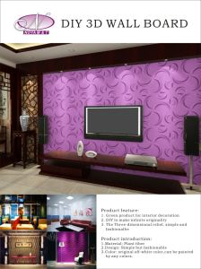 Acoustic Insulation 3D PVC Panel for Interior Wall Decorative pictures & photos