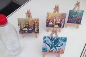 Itty Bitties Mini Canvas with Mini Easel pictures & photos