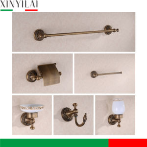 Sanitary Ware Bronze Wall Mount 6pieces Bathroom Set pictures & photos