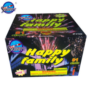 81 Shots Happy Family Color Box Pyrotechnic Cakes pictures & photos