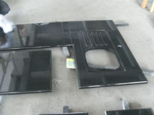 Prefabricated China Black Granite for Kitchen Countertop pictures & photos