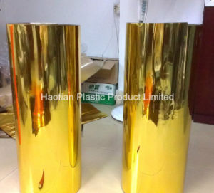 PVC Golden Sheet /Matellized Sheet pictures & photos