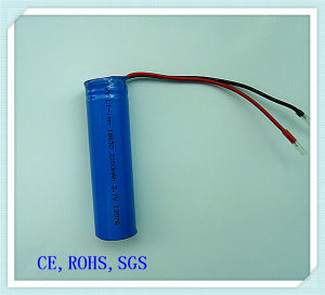 Lithium Ion 18650-2200mAh Battery for Audio, Loudspeaker, Lithium Battery Pack
