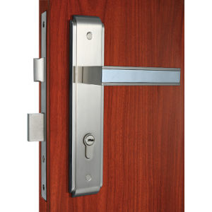 High Security Zinc Alloy Mortise Door Lock Chrome Lever Set Lock pictures & photos